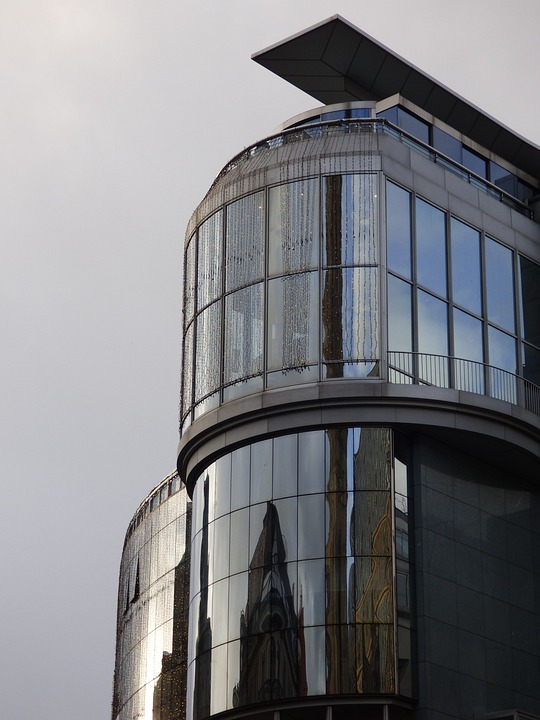 Office Building, Building Glass, Reflection, Glass