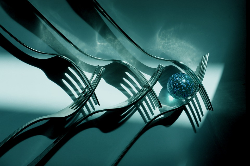 Forks, Shadows, Glass, Utensil, Silhouette