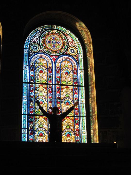 Stain Glass Window, Jewish Synagogue, Glass, Jewish