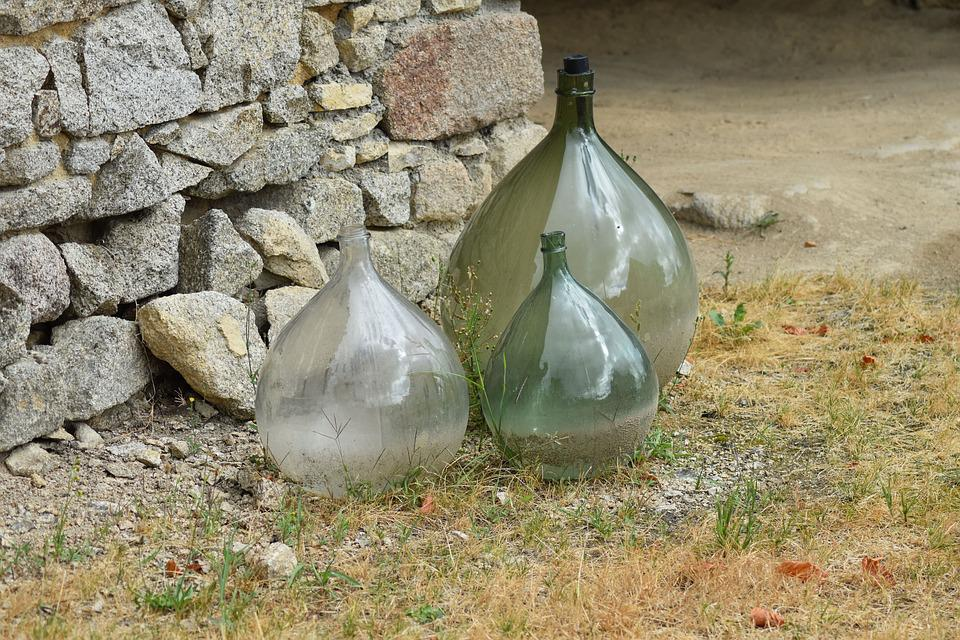 Glass, Old, Stone, Antic, Historical, Jar, Water, Licor