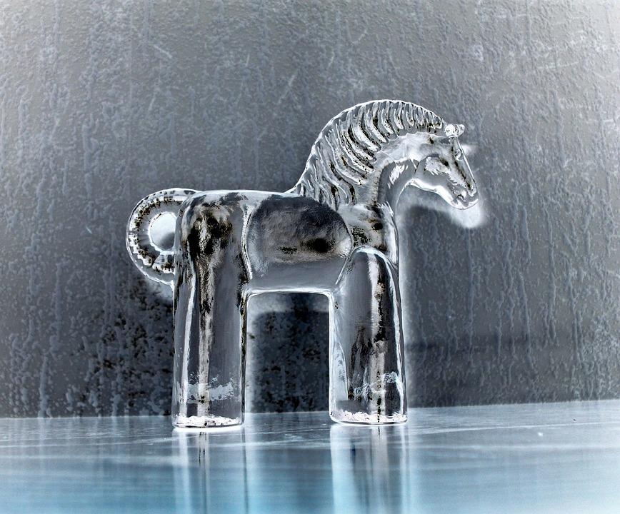 Sweden, Dalarna Horse, Glass, Souvenir