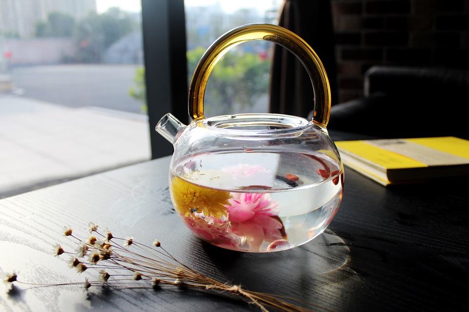 Tea Rose Corolla, Café, Book, Teapot, Glass, Cafe
