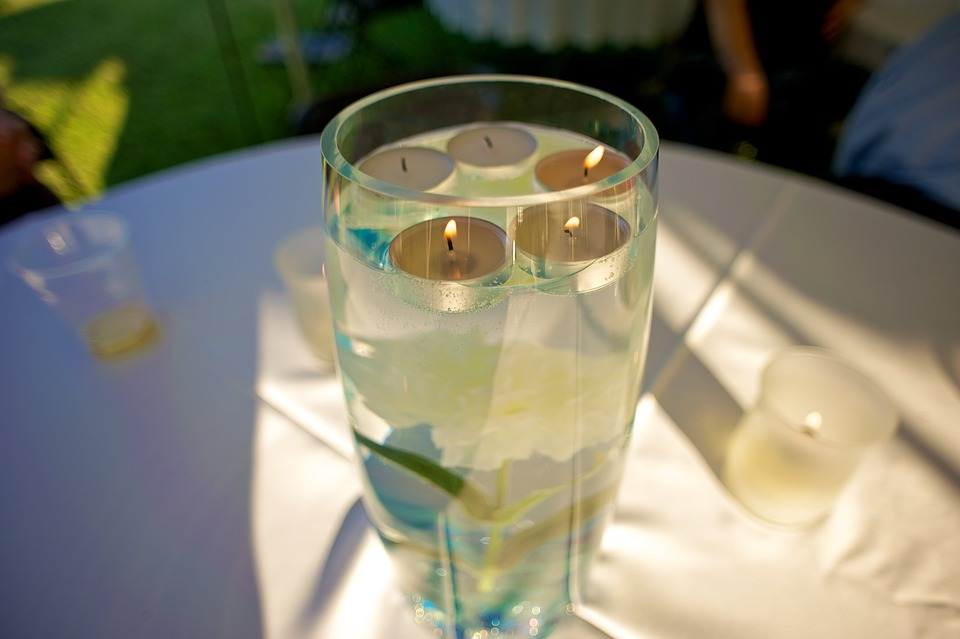 Tea Lights, Tealights, Tea Candles, Floating, Glass Images