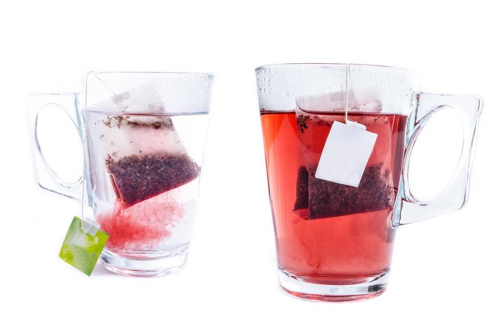 Tea, Cup, White, Teabag, Mug, Glass, Close-up, Isolated