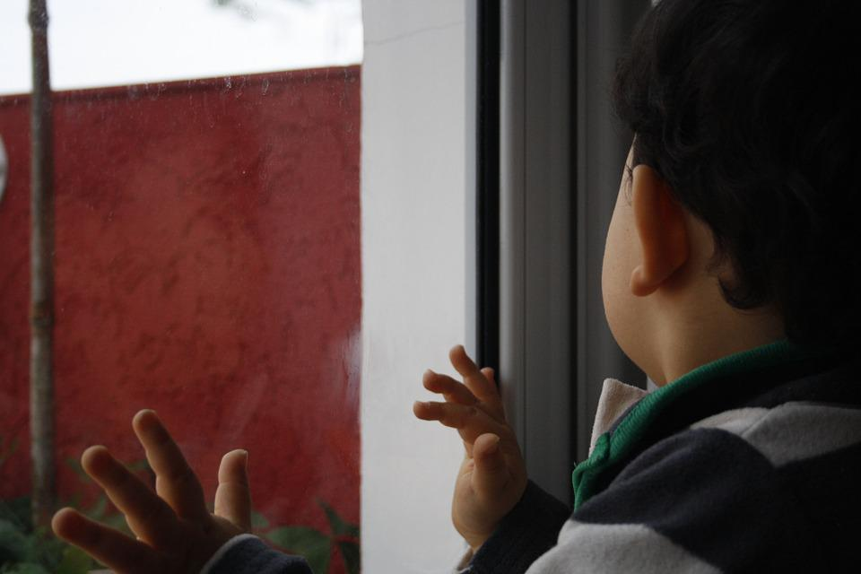 Glass, Window, Child