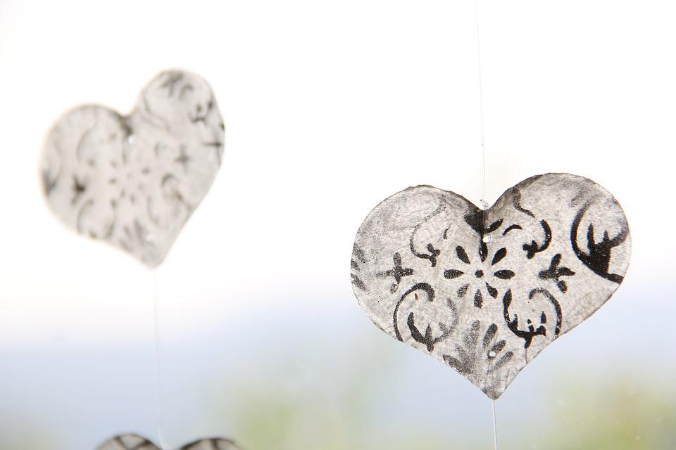 Heart, Decoration, Window, Connectedness, Glass, Family