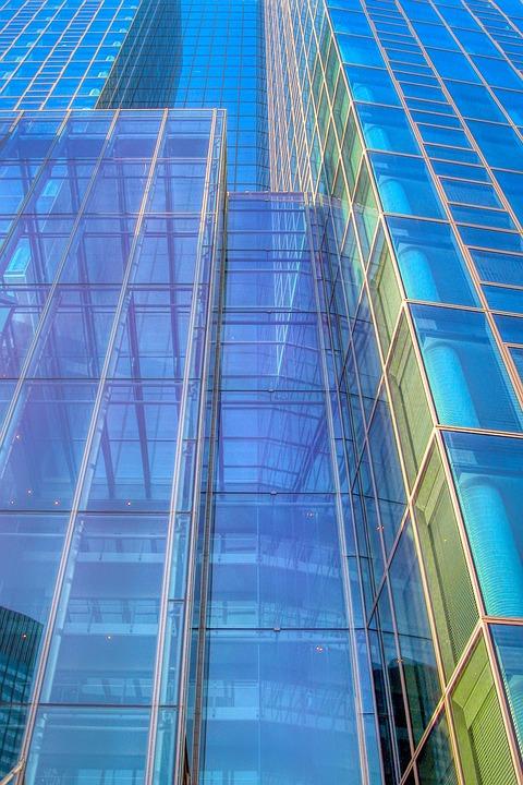 Facade, Glass, Window, Offices, Skyscraper, Frankfurt
