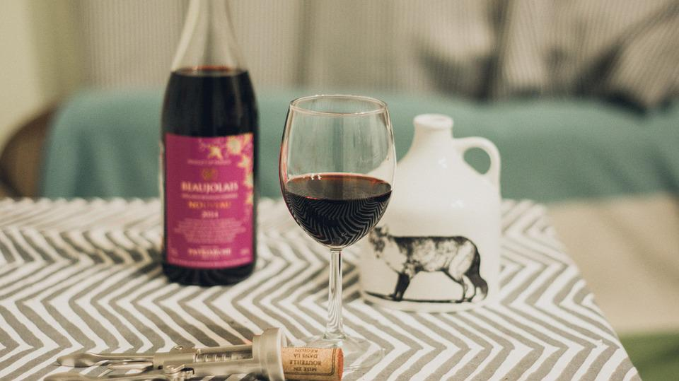 Wine, Beaujolais Nouveau, Glass