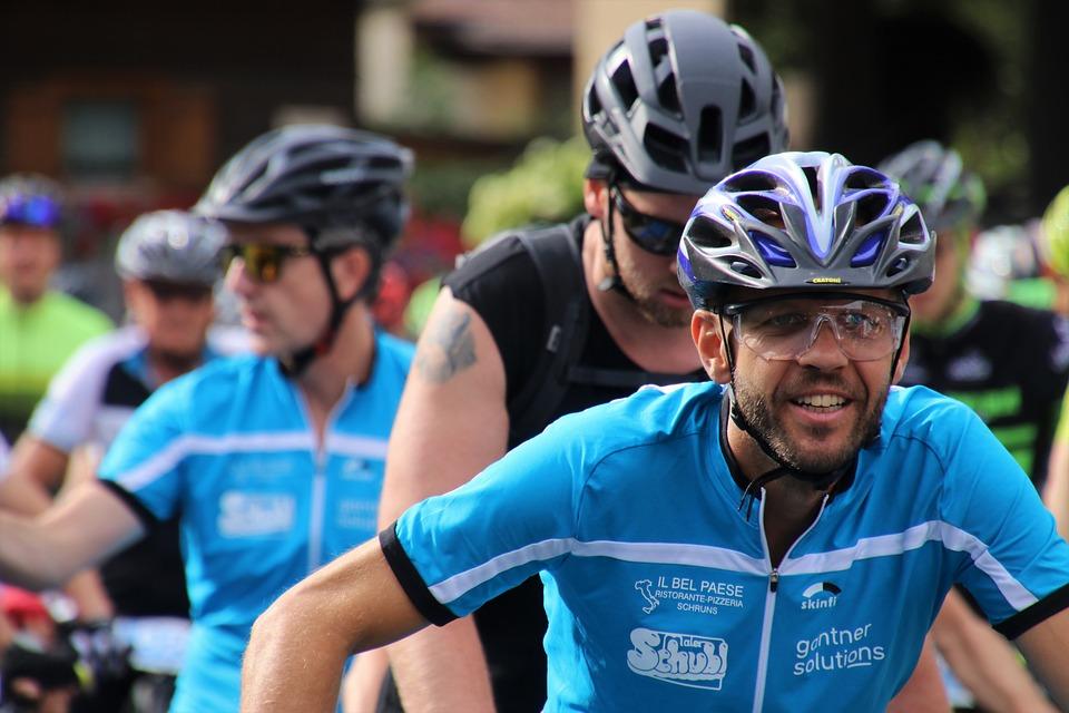 Bike, Bike Race, Helmet, Cyclists, A Smile, Glasses