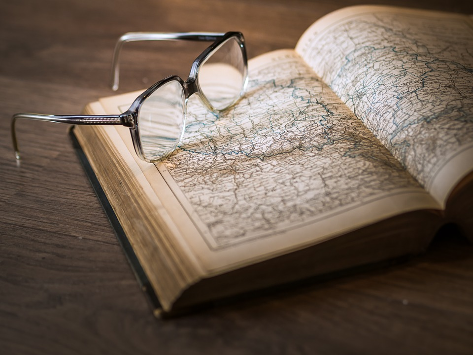 Atlas, Book, Glasses, Map, Knowledge, Page, Textbook