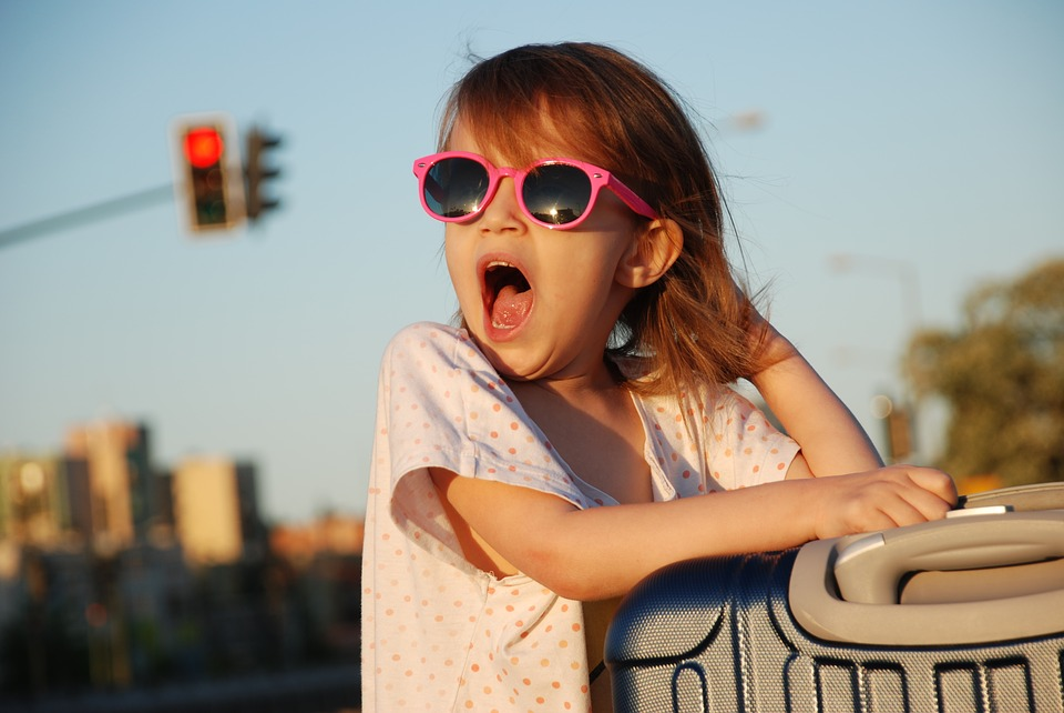 Girl, Street, Glasses, Mouth, Summer, City Street