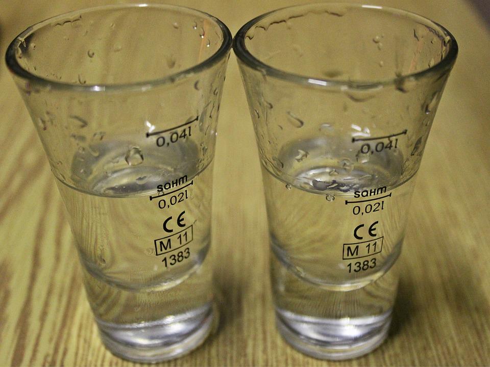Glasses, Alcohol, Detail