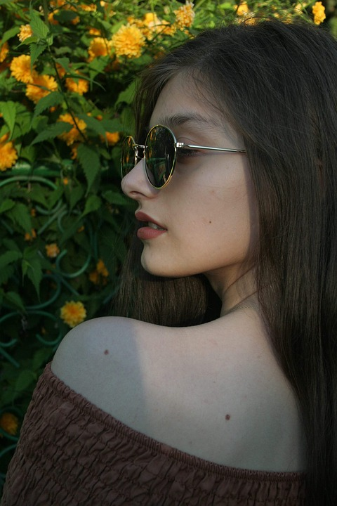 Girl, Sunset, About, Glasses, Seriousness