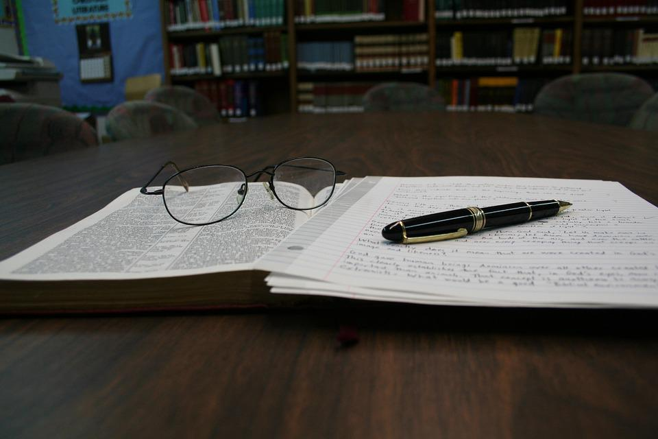 Bible, Reading Glasses, Glasses, Book, Pen, Study