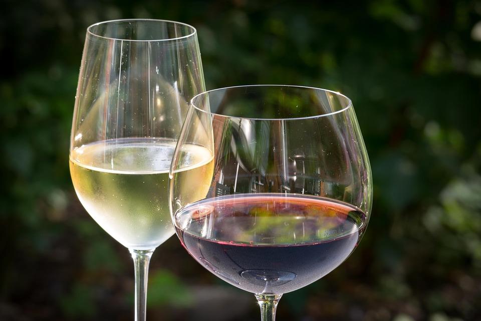 White Wine, Red Wine, Wine, Glasses, Wine Glasses