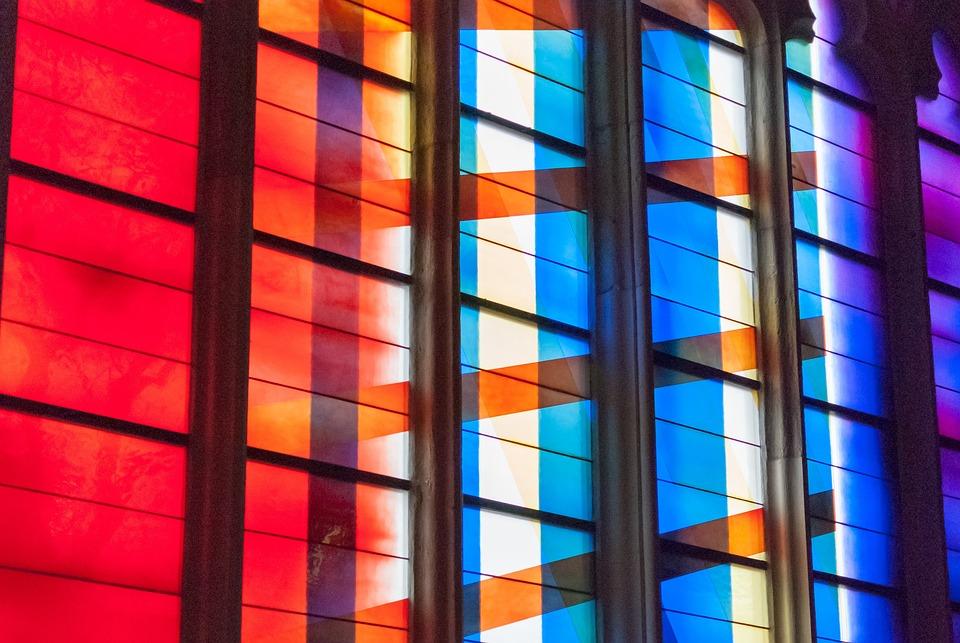 Glassware, Window, Stained Glass, Church