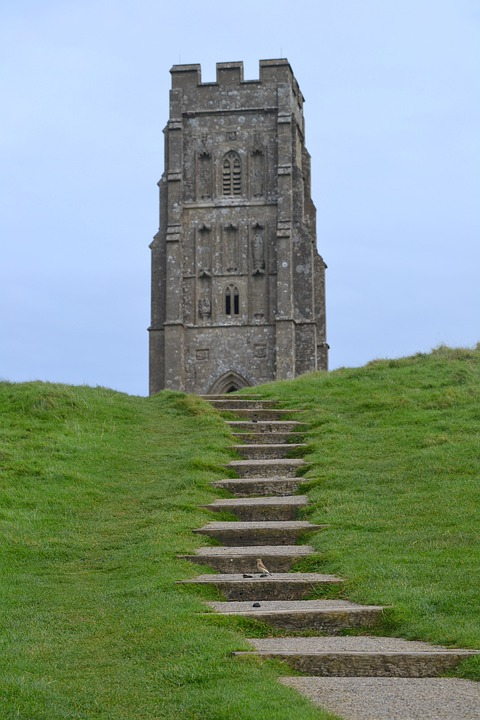 Glastonbury Tor, Great Britain, Building, Landmark