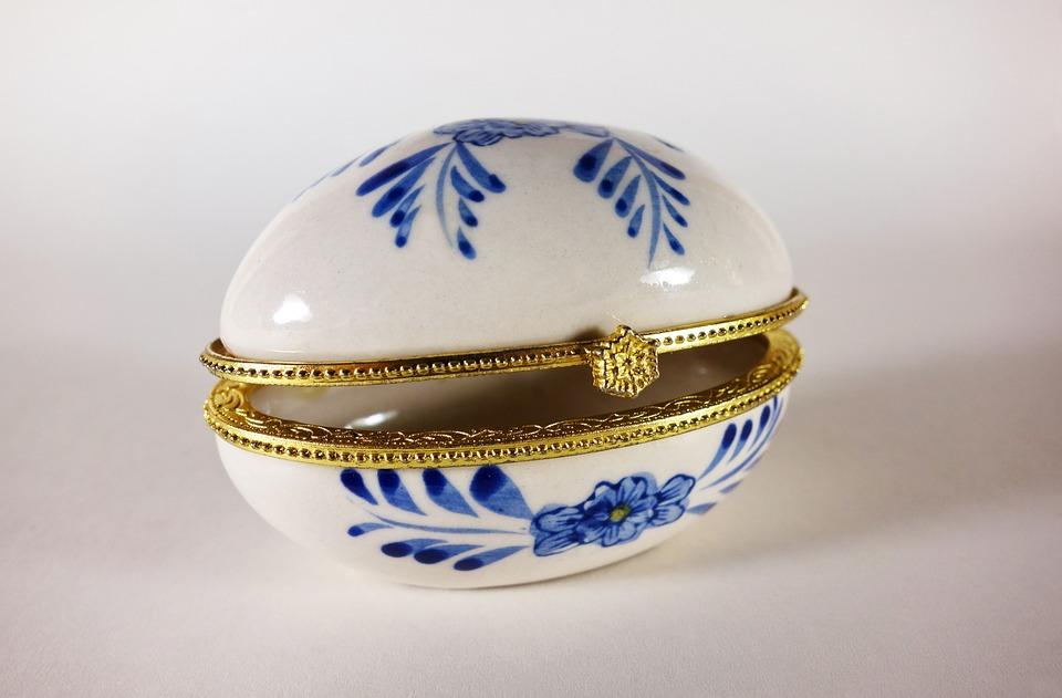 Box, Ceramic, Glazed, Delfts Blauw, Glazed Ceramic
