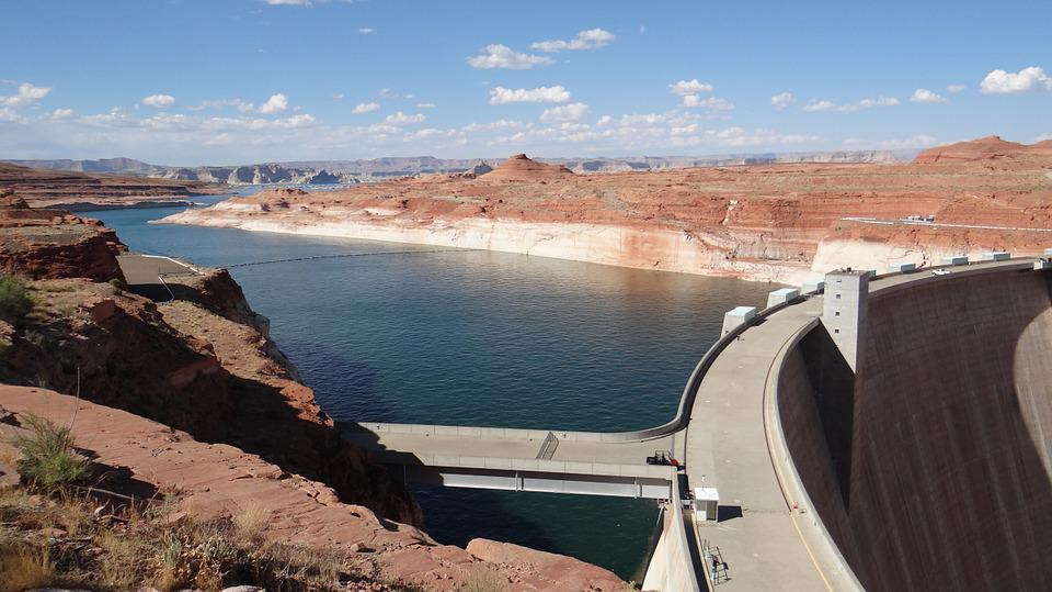 Lake, Dam, Usa, Glen Canyon