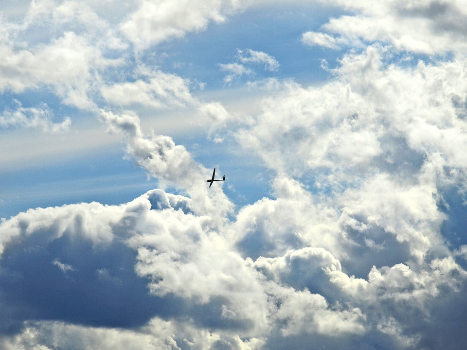 Selgelflieger, Glider, Aircraft, Sky, Clouds