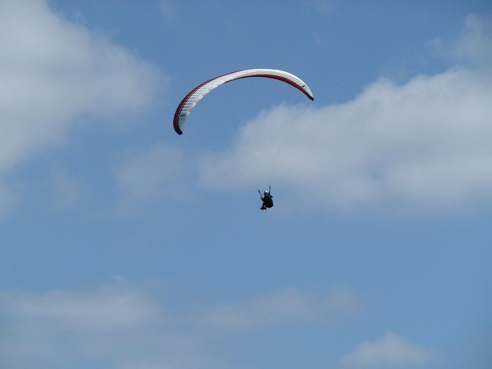 Sky, Clouds, Paragliding, Slope, Glider, Summer