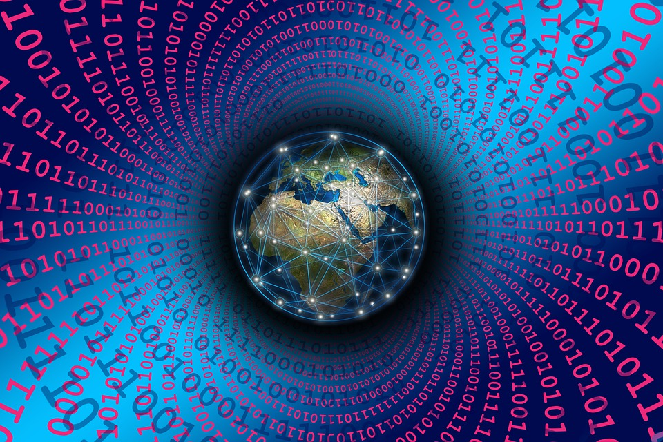Binary, Global, Network, Globe, Digitization