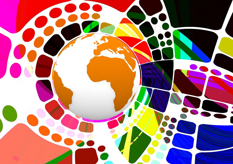 Globe, Abstract, Background, Template, Colorful, Earth
