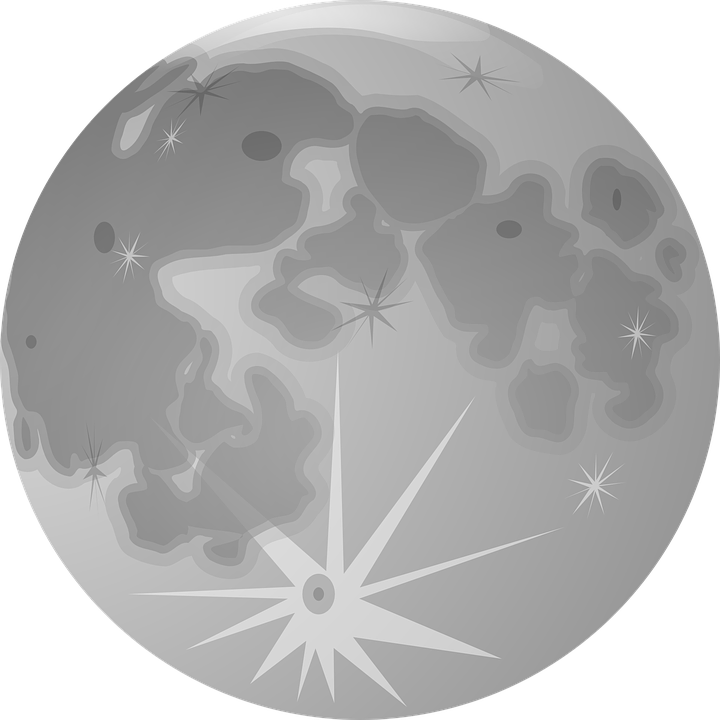 Full Moon, Moon, Lunar, Globe, Planet, Gray, Craters