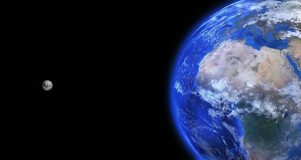 Earth, Globe, Moon, World, Planet, Earth Globe, Blue
