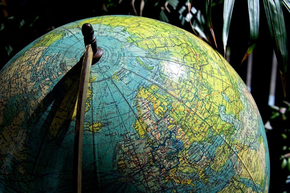 Earth, Globe, Antique, Europe, North Pole, Scandinavia