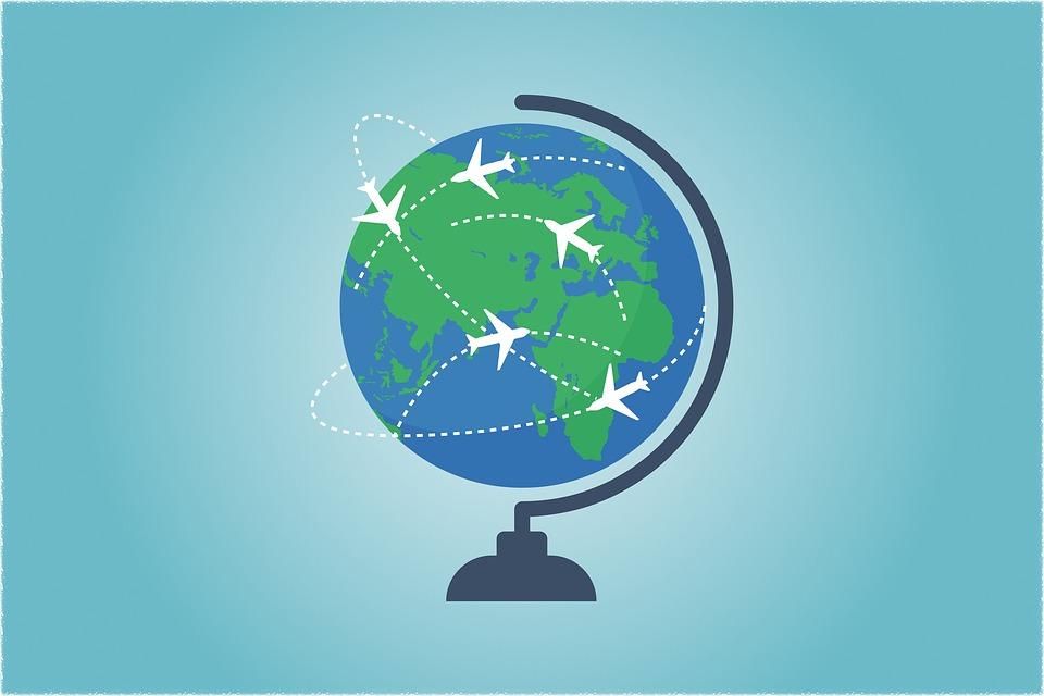 Globe, World, Map, Travel, Send, Shipping, Connectivity