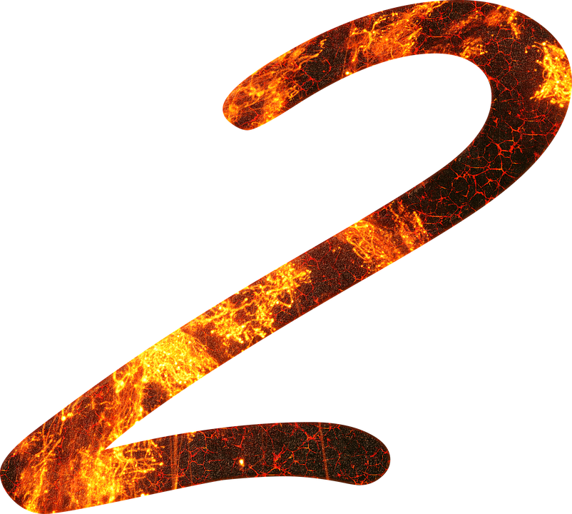 Number, 2, Fire, Font, Training, Two, Learn, Gloss