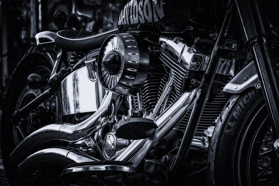 Harley Davidson, Motorcycle, Chrome, Gloss, Harley