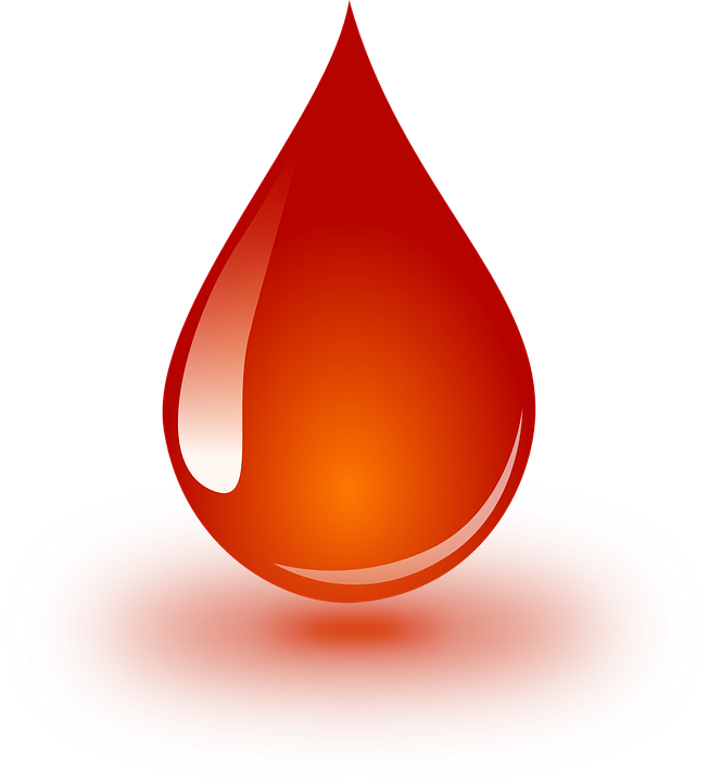 Blood, Donation, Drop, Droplet, Red, Glossy, Orange
