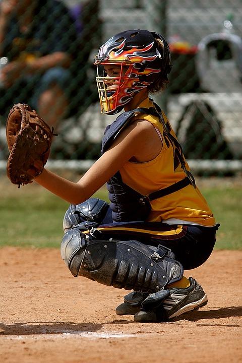 Softball, Catcher, Female, Catcher's Mitt, Glove