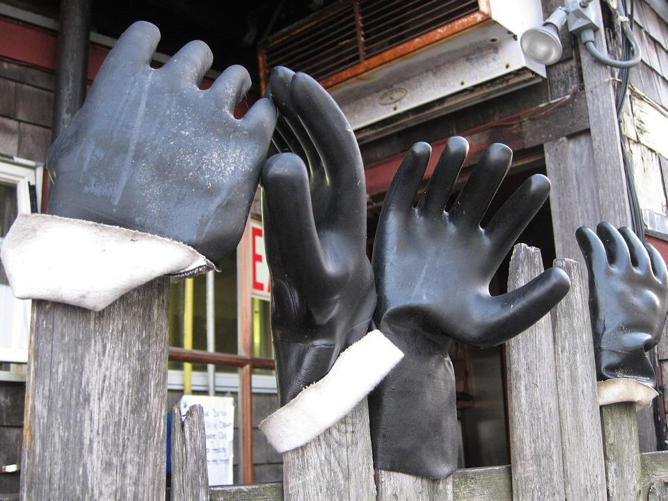 Gloves, Hands, Black
