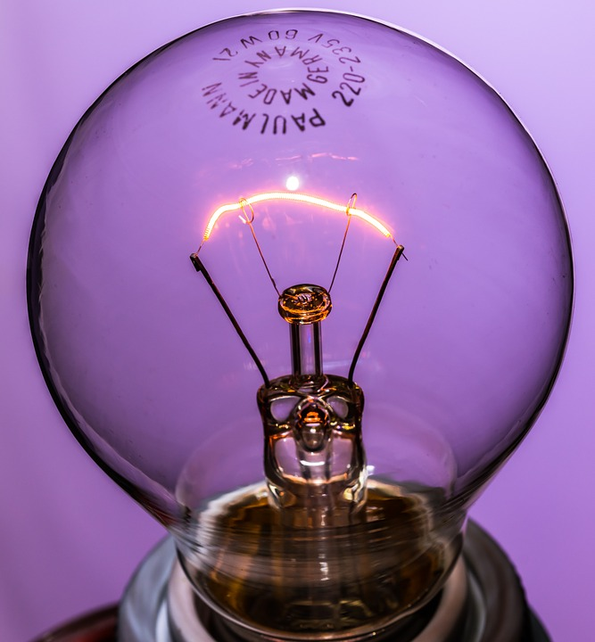 Disappearing, Light Bulb, At, Burn, Light, Glow Lamp