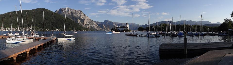 Traunsee, Lake, Gmunden, Alpine, Mountain, Landscape