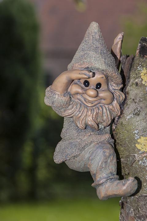 Garden Gnome, Dwarf, Gnome, Fig, Föhlich