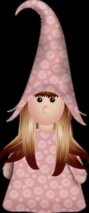 Girl, Gnome, Valentine's Day, Girl Gnome, Valentine
