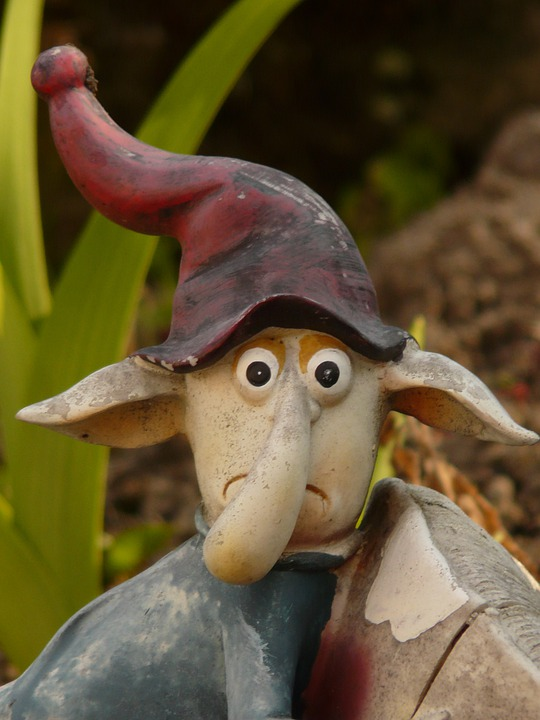 Dwarf, Imp, Gnome, Creature, Funny, Mushroom, Holzfigur