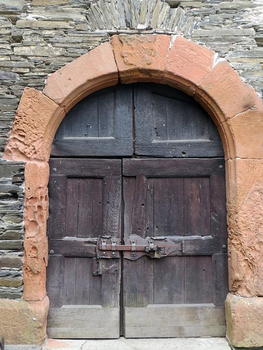 Door, Goal, Arch, Archway, Truss, Input, Wall, Stone