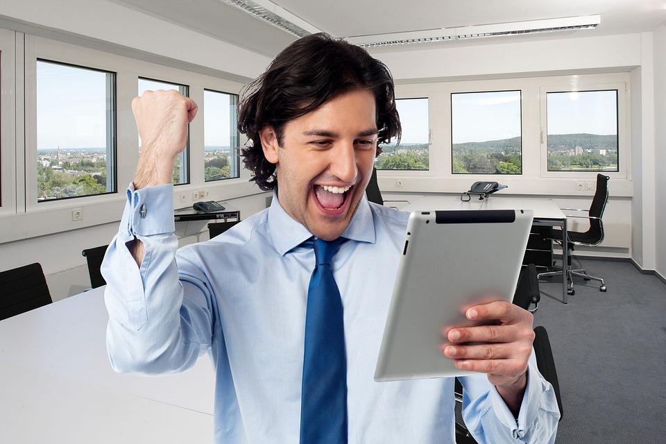 Success, Happy, Businessman, Manager, Sales, Goal