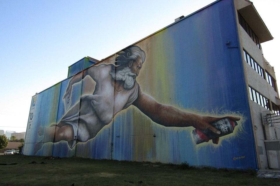 Art, Street Art, God, Spray Paint, Houston