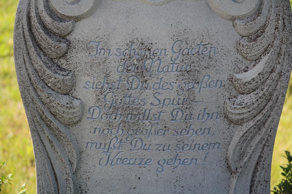 Saying, Stone, God, Faith, Catholic, Sculpture, Cross