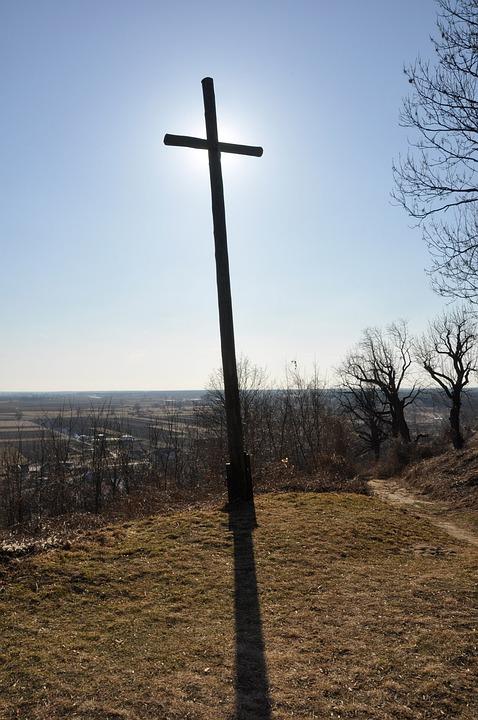 Cross, Hill, Sun, Sky, View, Religion, Freedom, God