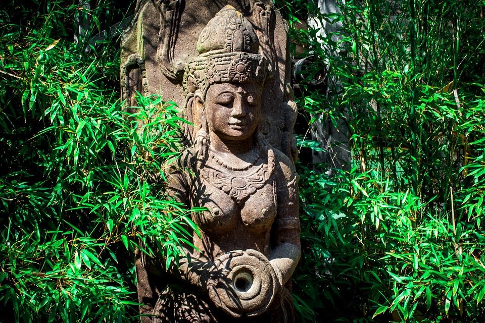 India, Statue, Goddess, Stone, Woman, Figure, Hinduism