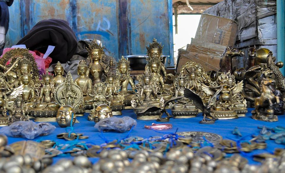 Gods, Icons, Mongolia, Traditional, Market, Open Market