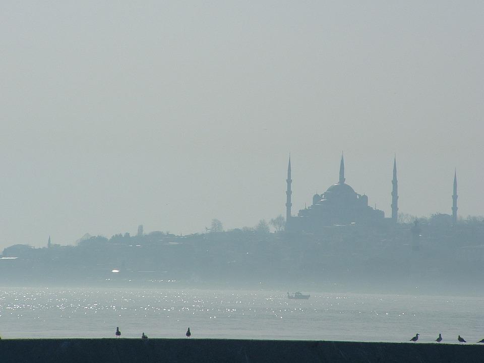 Blue Mosque, View, Fog, Goggy, Mosque, Blue, Islam