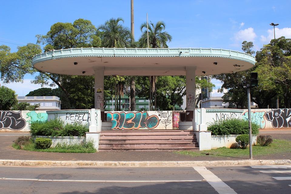 Gazebo, Goiânia, Old, Art Deco, Monument